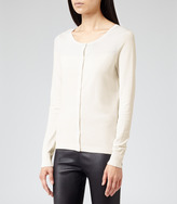 Reiss Knowsley Cardigan CONTRAST COLOUR CARDIGAN