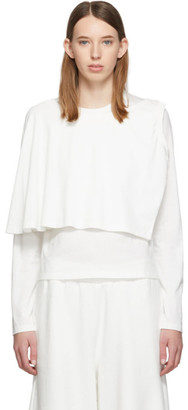 MM6 MAISON MARGIELA White Double Layer Long Sleeve T-Shirt
