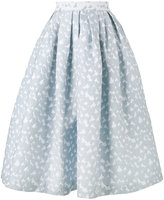 House of Holland heart jacquard midi skirt