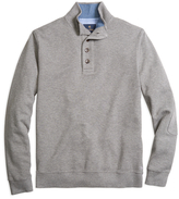 Brooks Brothers Button-Front Mockneck