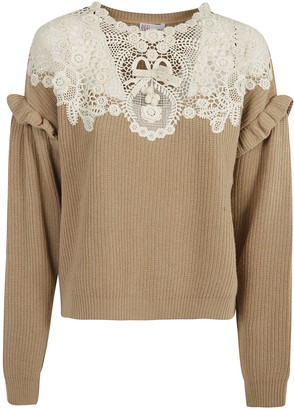RED Valentino Laced Detail Jumper