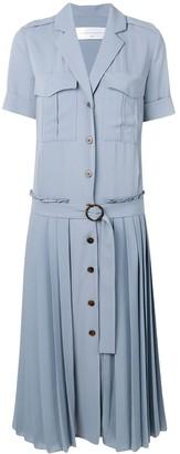 Victoria Victoria Beckham pleat detail shirt dress