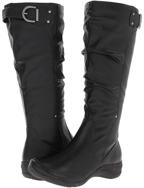 Hush Puppies Alternative 18 Wide Calf Boot (Black PU) - Footwear