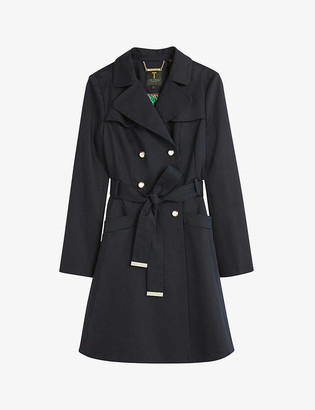 Ted Baker Pandura flared stretch-cotton mac coat