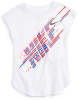 Nike Girl's Splice Graphic Tee