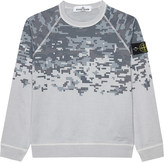 Stone Island Pixel print cotton jumper 4-14 years