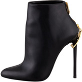 Tom Ford Zipper-Heel Leather Ankle Boot