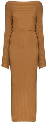Totême Maristella boat-neck maxi dress