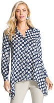 Chico's Rosalind Double Play Dot Shirt