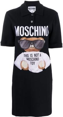 Moschino Graphic Logo Print Polo Dress