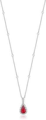 Bayco Mozambique Ruby & Diamond Pendant Necklace