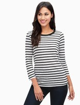 Splendid Cerine Stripe Button Back Top