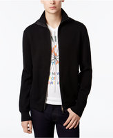 Armani Exchange Men's Textured Zip Jacket with Hood & Side Zip Pockets