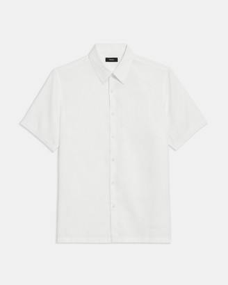 Theory Irving Short-Sleeve Shirt in Summer Linen