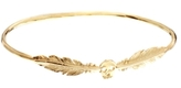 Asos Daisy Knights Feather Skull Hand Bangle - Gold