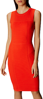 Karen Millen Bubble Stitch Knit Pencil Dress, Orange