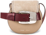 Proenza Schouler Mini Leather & Suede Buckle Crossbody Bag in Light Taupe | FWRD