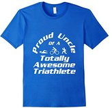 Men's Triathlete Supporter Uncle Triathlon Run Swim Cycle Niece Large