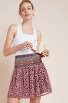 Maeve Livia Smocked Mini Skirt