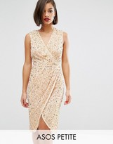 Asos Twist Front Mesh Midi Dress