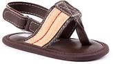 Joseph Allen Brown Stripe Sandal