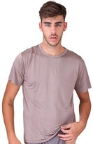 Forever Angel-Men's Tops Forever Angel Men's Pure Silk Knitted Crew Neck T Shirts TEE Size M