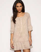Embroidered Smock Tunic Dress