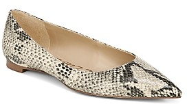 Sam Edelman Women's Stacey Pointed Toe Embossed Flats