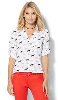 Soho Soft Shirt - One-Pocket Popover - Horse Print
