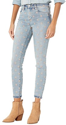 Blank NYC The Bond Mid-Rise Star Embroidered Denim Skinny Jeans in Ever After (Ever After) Women's Jeans