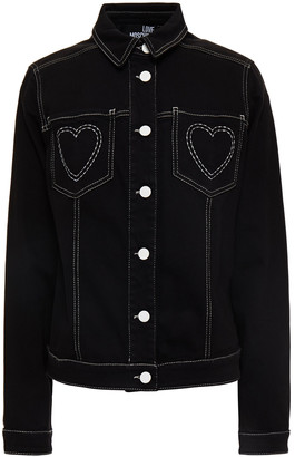 Love Moschino Embroidered Cotton-blend Pique Jacket