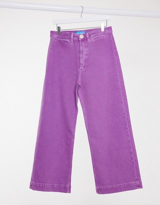 MiH Jeans Caron high waist wide leg jeans in purple