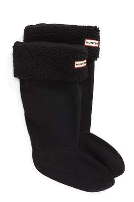 Hunter Tall Fleece Cuff Welly Boot Socks