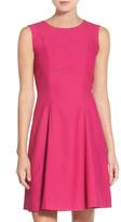 Eliza J Crepe Fit & Flare Dress (Petite)