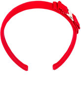 Salvatore Ferragamo bow embroidered hair band - women - Cotton - One Size