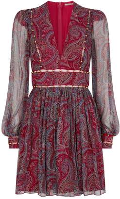 Thurley Cleo Paisley V-Neck Dress