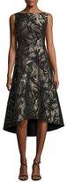 Lafayette 148 New York Juliana Sleeveless High-Low Hem Spark-Print Dress, Multi, Plus Size