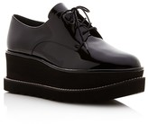 Stuart Weitzman Kent Lace Up Creeper Platform Loafers