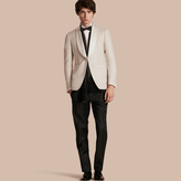 Burberry Slim Fit Shawl Lapel Linen Silk Evening Jacket