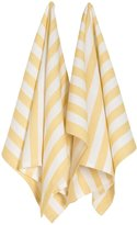 Now Designs Stripey Towels - Curry - 2 ct