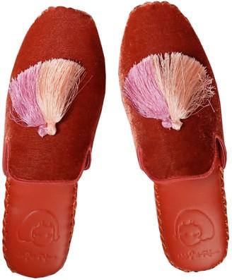 Not Just Pajama Womens Classic Handmade Slipper - Red