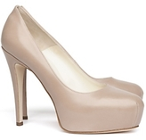 Brian Atwood Maniac Leather Platform Pumps: Nude