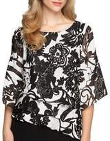 Alex Evenings Plus Triple Tiered Hem Blouse