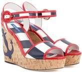 Dolce & Gabbana Sriped wedge sandals