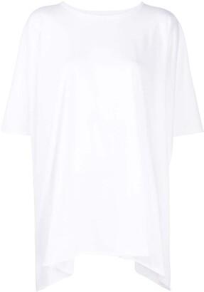 Rick Owens oversized handkerchief hem T-shirt