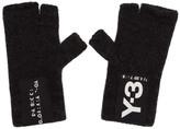 Y-3 Black Logo Badge Gloves