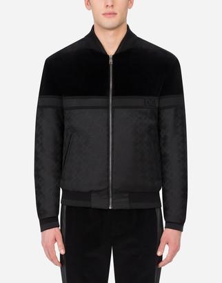 Dolce & Gabbana Wool Jacquard Jacket With Velvet Details