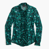 J.Crew Collection ruffle-front shirt in Ratti® emerald floral