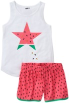 Crazy 8 Watermelon 2-Piece Shortie Pajama Set