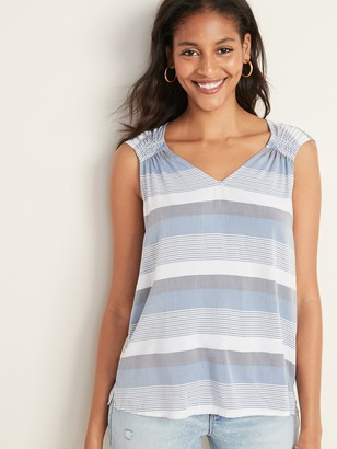 Old Navy Sleeveless Ruched V-Neck Top for Women